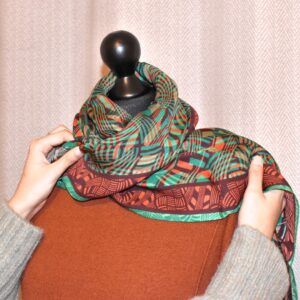 FOREST SQUARE SILK SCARF